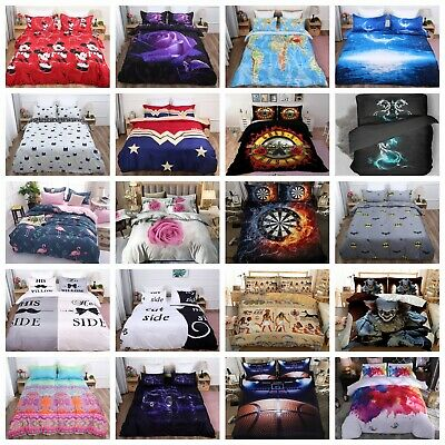 Duvet Cover Quilt Cover Bedding Set With Pillow Cases Single Double King UK Hot • 23.99£