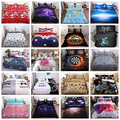 Luxury 3D Duvet Cover Bedding Set Quilt Cover Pillowcases Single Double King Hot • 19.94£
