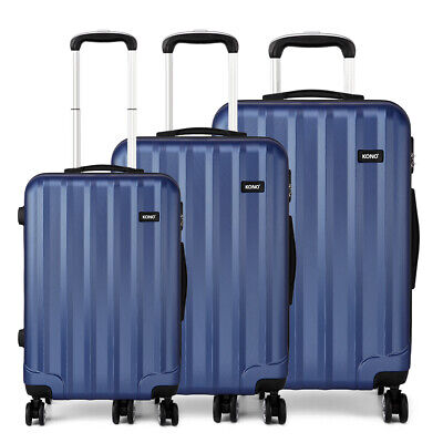 Lightweight Hard Shell Cabin Suitcase 4 Wheel Set Luggage Trolley Case Ryanair • 22.99£