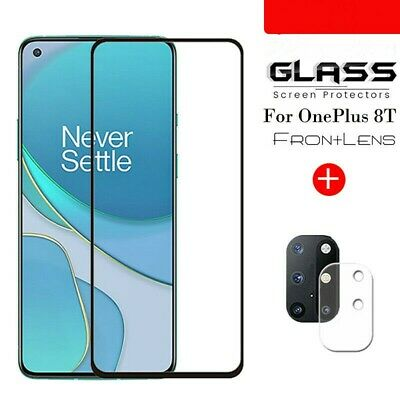 AU5.99 • Buy For OnePlus 8T /8T+ 5G Camera Lens Film +9H Tempered Glass Full Screen Protector