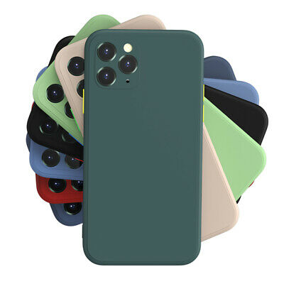 Silicone Case For IPhone 11 12 Pro Max XR XS X 7 8 Plus Soft Liquid Rubber Cover • 2.89£