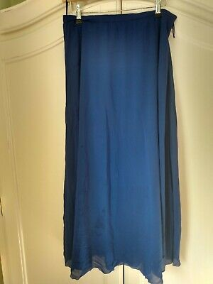 Me And Em Royal Blue Layered Net Skirt Side Zip 10 • 15£