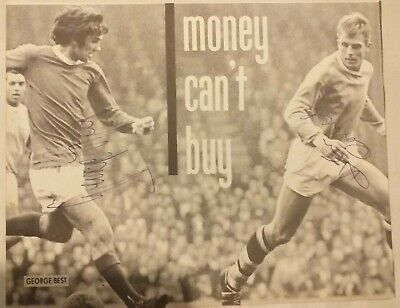 Hand Signed GEORGE BEST Manchester United Picture 8X6 BLACK AND WHITE • 59.95£