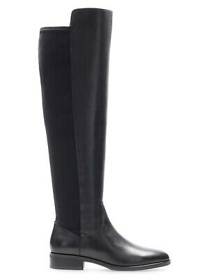 BNIB Clarks Caddy Belle Black Leather And Elastic Over The Knee Boots UK4/37 • 54.99£