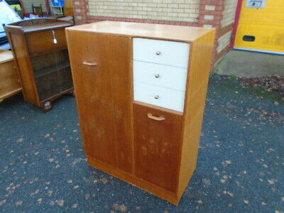 Lovely Oak G Plan 50's Era Brandon Combination Tallboy Wardrobe Chest Of Drawers • 95£