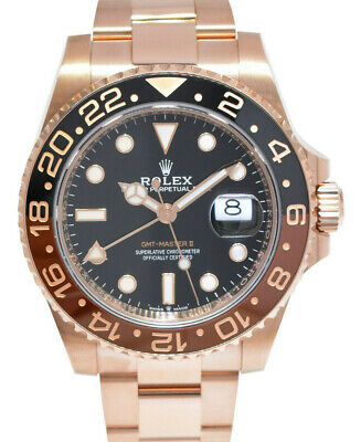 $ CDN53314.30 • Buy Rolex GMT-Master II 18k Everose Gold  Root Beer  Ceramic Bezel Watch  18  126715