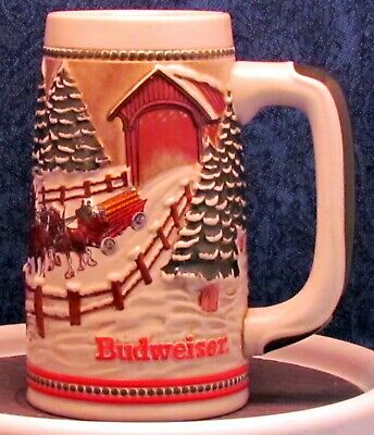 $ CDN21.43 • Buy 1984 Budweiser Holiday Beer Stein - New - Never Used