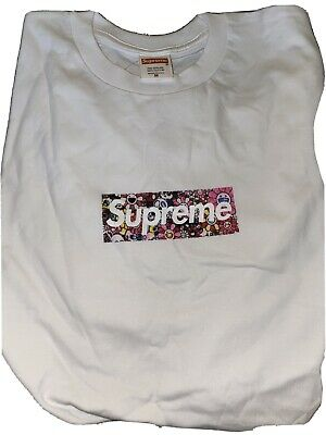 $ CDN67 • Buy Supreme X Takashi Murakami Relief Box Logo Tee Size M WITH EMAIL PROOF
