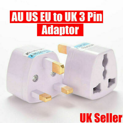 EU 2 Pin To 3 Pin UK Electric Shaver Toothbrush Adaptor Plug Travel Charger NEW • 1£