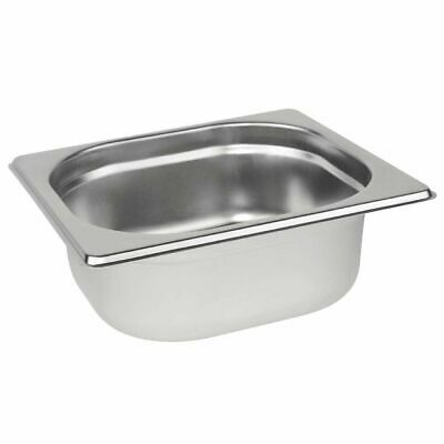 £3.94 • Buy Stainless Steel 1/6 Size Gastronorm Pan Bain Marie Pot