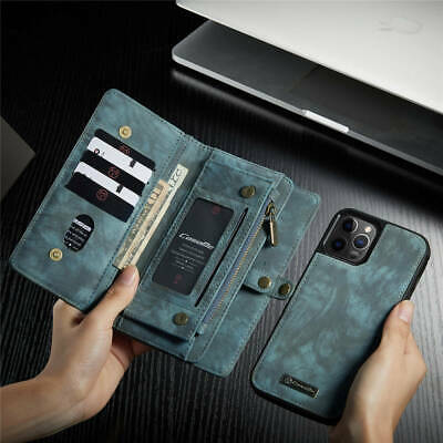 AU33.21 • Buy For IPhone 12/Pro/Max/Mini/11/8+ Leather Magnetic Detachable Wallet Zipper Case