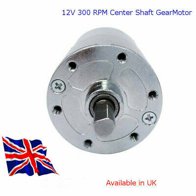 12V DC - HIGH TORQUE Electric Motor 300 RPM With GBox - Available In UK • 14.99£