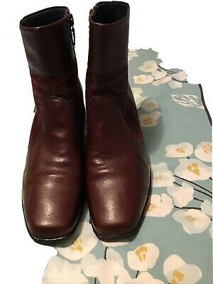 Pavers Comfort Burgundy Leather Ankle Boots Size 5(eu38) Great Condition • 8£