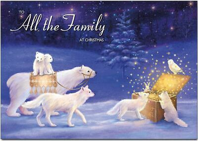 To All The Family Christmas Card  - Box Of Stars - With Peel & Seal Envelope • 2.49£