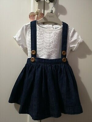 Baby Girl Dungaree Dress, Age 3-6 Months, Next.  • 3£