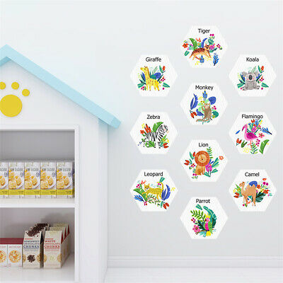 Hexagon Self Adhesive Wall Floor Decal Sticker For Kids Playroom Bedroom Decor • 11.99£