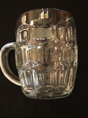 Collectors Traditional Dimple Pint Retro Lager Beer Mug Stein Glass Handle • 9.99£