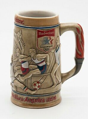 $ CDN56.24 • Buy Lot Of (2) BUDWEISER Beer Stein Mugs Cups 1984 Los Angeles Olympics