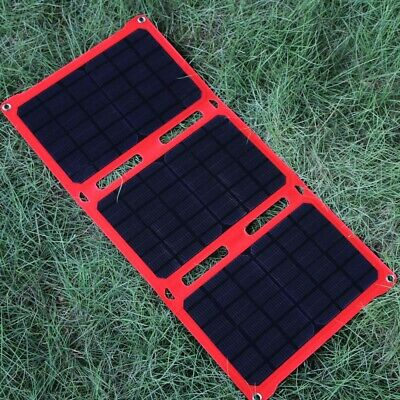 21W Folding Solar Panel USB For Cellphone IPhone Fast Charger Outdoor Camping • 38.99£