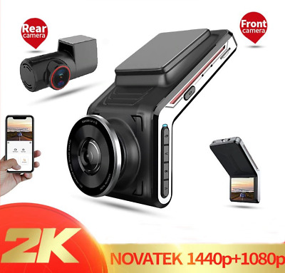 AU109.02 • Buy Dash Cam WIFI 2k Front And Rear Camera Lens Night Vision 24H Parking Monitor