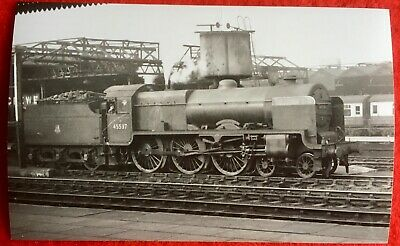 PHOTO  LMS PATRIOT CLASS LOCO 45537 PRIVATE E SYKES VC Crewe Works 1955 • 1.35£