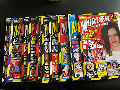 Murder Most Foul Monthly Magazine. Set Of 10 • 5.50£