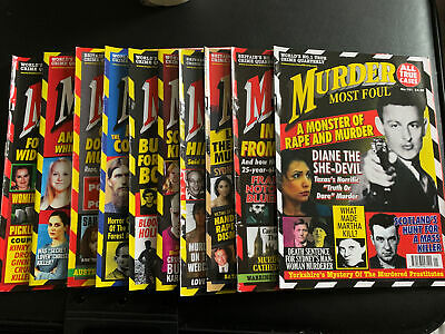 Murder Most Foul Monthly Magazine. Set Of 10 • 11.50£