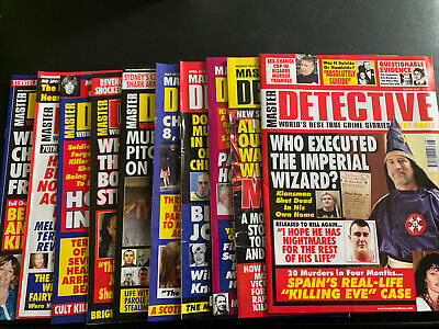 Master Detective Monthly Magazine. Set Of 10 • 3.21£
