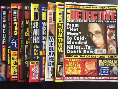 Master Detective Monthly Magazine. Set Of 10 • 0.99£