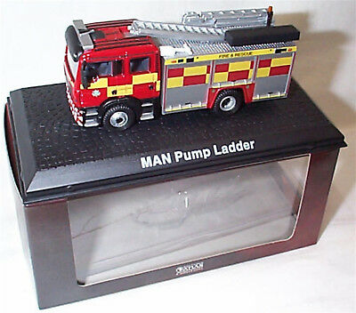 Man Pump Ladder Fire Engine 1-76 Scale In Case Boxed Oxford - Atlas  • 7.99£