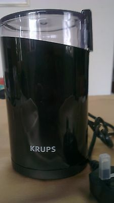 NEW Krups Spice & Coffee Beans Grinder F203 Twin Blade 75g 200W • 25£