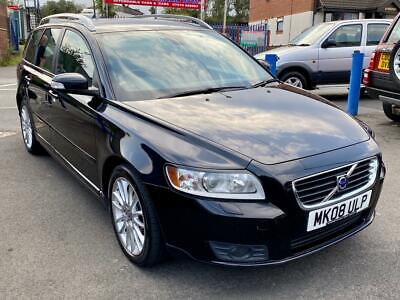 Volvo V50 2.0D SE Lux, Delivered To Your Door, Black Heated Leather, 107,000 • 2,995£