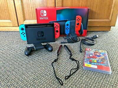 AU375 • Buy Complete Nintendo Switch NEON Console PLUS Super Mario Odyssey Game