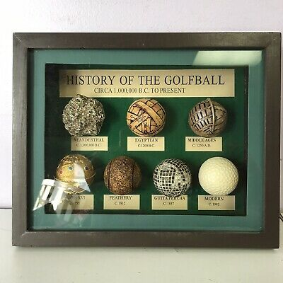 Unique The History Of The Golf Ball SHADOW BOX DISPLAY BC - To Present • 21.44£