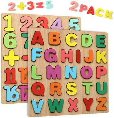 Wgde Toy Wooden Puzzles For 2 3 4 Year Old Kids Toddlers, Toys Gifts For 2 3 4 2 • 11.10£