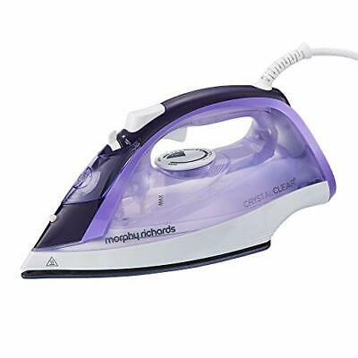 Morphy Richards 300301 Steam Iron Crystal Clear Water Tank, 2400 W, Amethyst • 31.99£