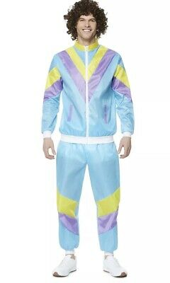 Smiffys Fancy Dress Mens Scouser Shellsuit 80s With Afro Wig Size Large • 7.50£