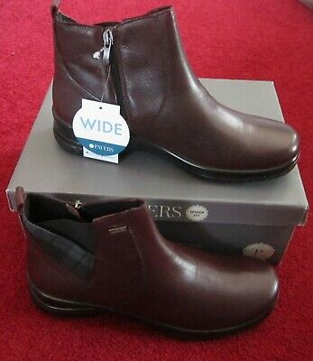 Brand New In Box Womens Pavers Alpine Wide Fit Boots Size U.K 5 In Burgundy • 39.99£
