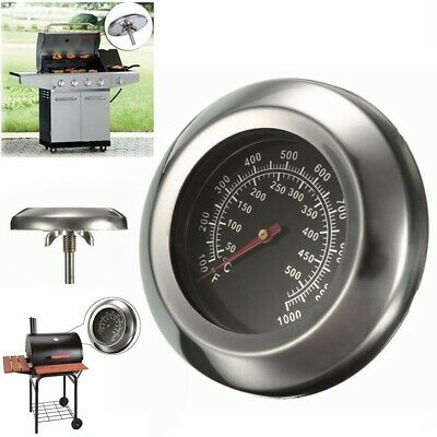 50~500 Degree 3  Roast Barbecue BBQ Smoker Grill Thermometer Temperature Gauge G • 4.99£
