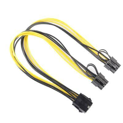 8Pin To Graphics Video Card Double PCI-E 8Pin(6Pin+2Pin)Power Supply Cable • 4.66£