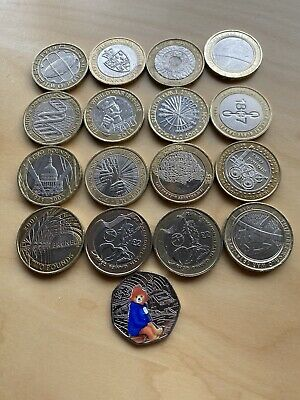 2 Pound Coin Joblot Includes Commonwealth Scotland And England Plus Free 50p • 41£