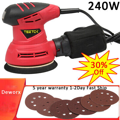 125mm 240w Electric Orbit Random Orbital Sander Palm Sander Heavy Duty +dust Bag • 22.90£