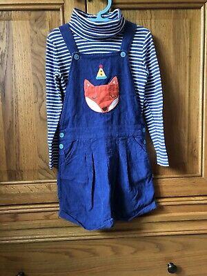 Frugi Short Dungarees And Roll Neck Top Age 6-7 • 4.50£