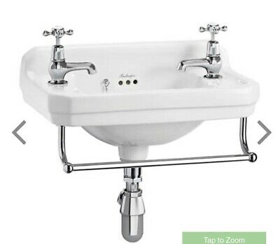 Burlington Wall Mounted Sink With Two Tap Holes 51cm • 68£