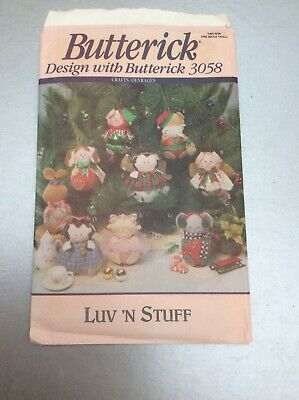 Vintage Butterick Toy Making Pattern For Luv 'N Stuff Animals Unused • 4.99£