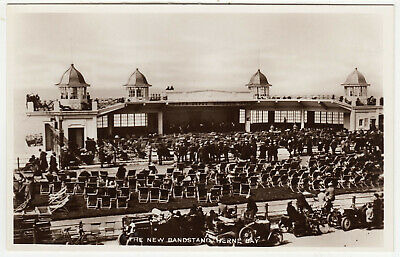 HERNE BAY - The New Bandstand -  Kent - C1920s Era Real Photo Postcard • 1.99£