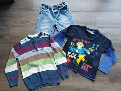 Boys Next & M&S Bundle, Jean's, Jumper, Fireman Sam Top Age 3-4 • 3.99£