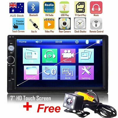 AU74.52 • Buy 7'' 2Din Touch Car MP5 Player Video Stereo Head Unit USB Radio + Reverse Camera