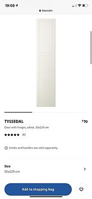 Ikea Pax Tyssendal Wardrobe Doors 229cm With Hinges And Handles • 45£