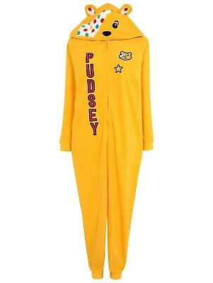BNWT Pudsey Bear Children In Need Adults Medium Hooded All In One Onesie  • 15£